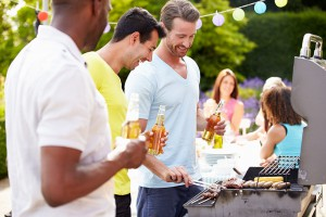 Outdoor grilling entertaining